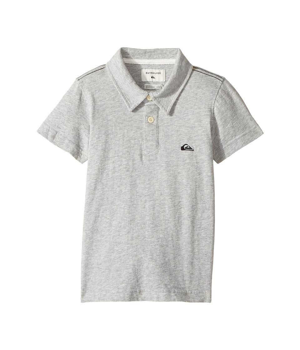 Quiksilver Kids - Everyday Sun Cruise Short Sleeve Polo (Toddler/Little Kids) (Light Grey Heather) Boy's Short Sleeve Knit
