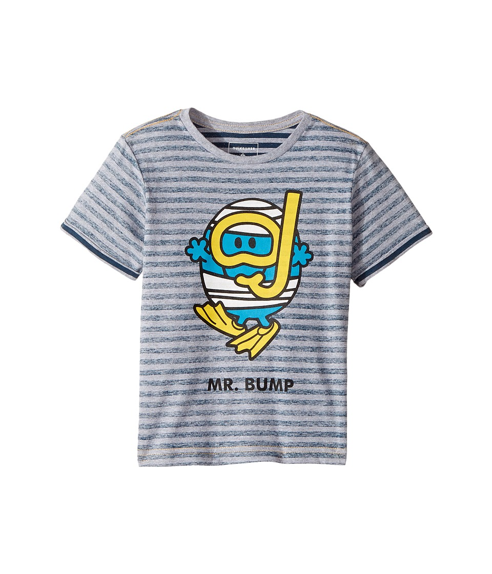 Quiksilver Kids - Mr. Bump Classic Tee (Toddler/Little Kids) (Light Grey Heather) Boy's T Shirt