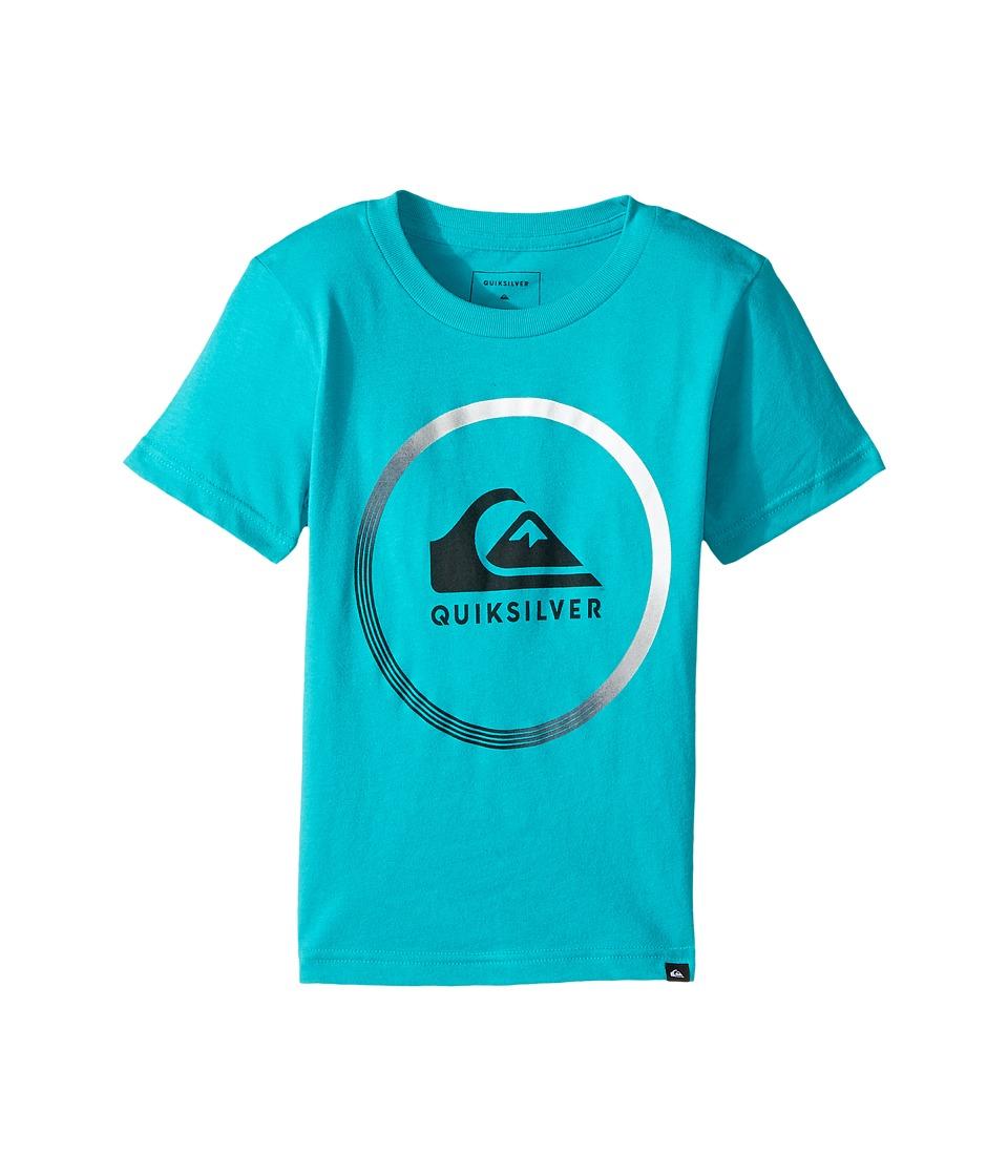 Quiksilver Kids - Active Logo Tee (Toddler/Little Kids) (Veridian Green) Boy's T Shirt