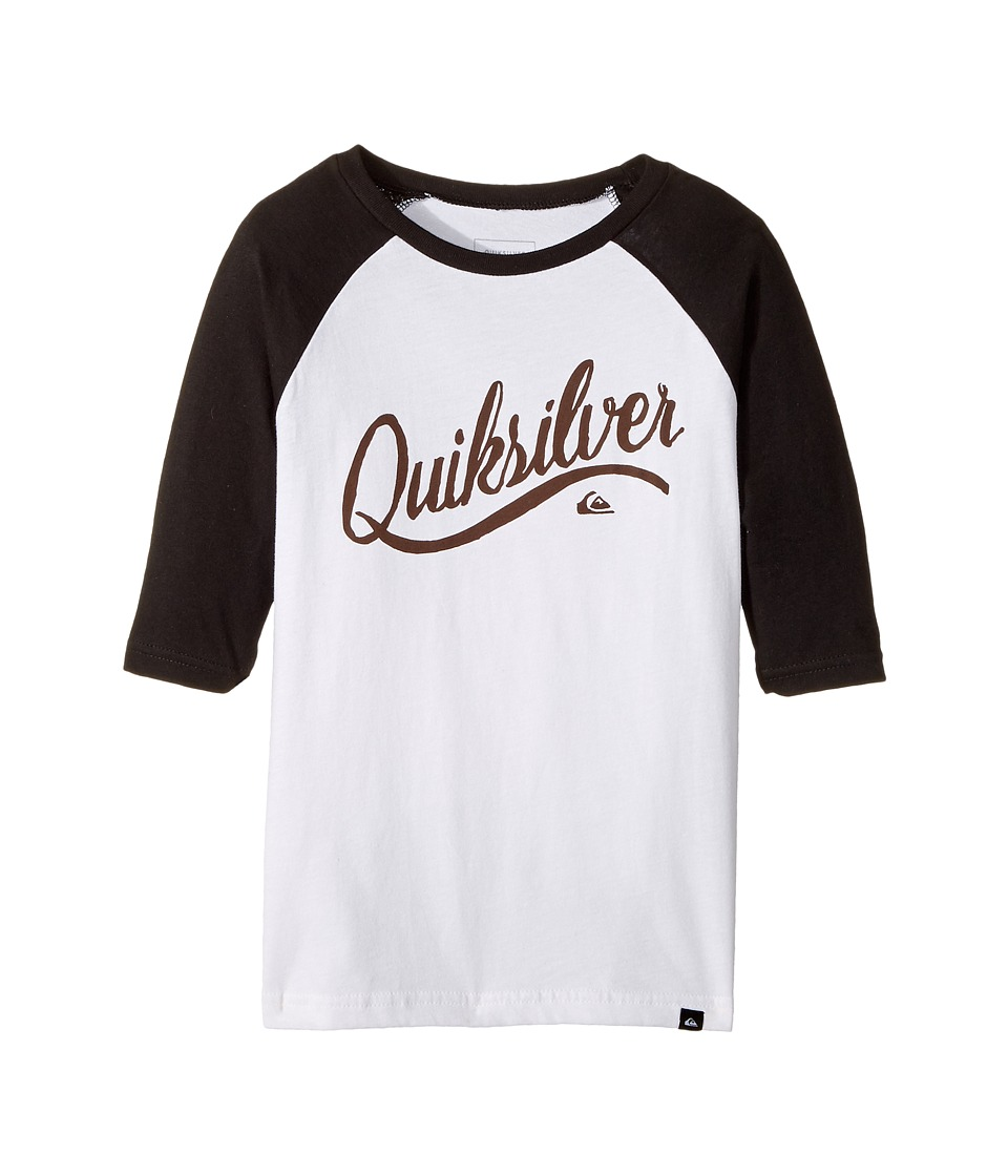 Quiksilver Kids - Sea Scroll 3/4 Sleeve Raglan Tee (Toddler/Little Kids) (White) Boy's T Shirt