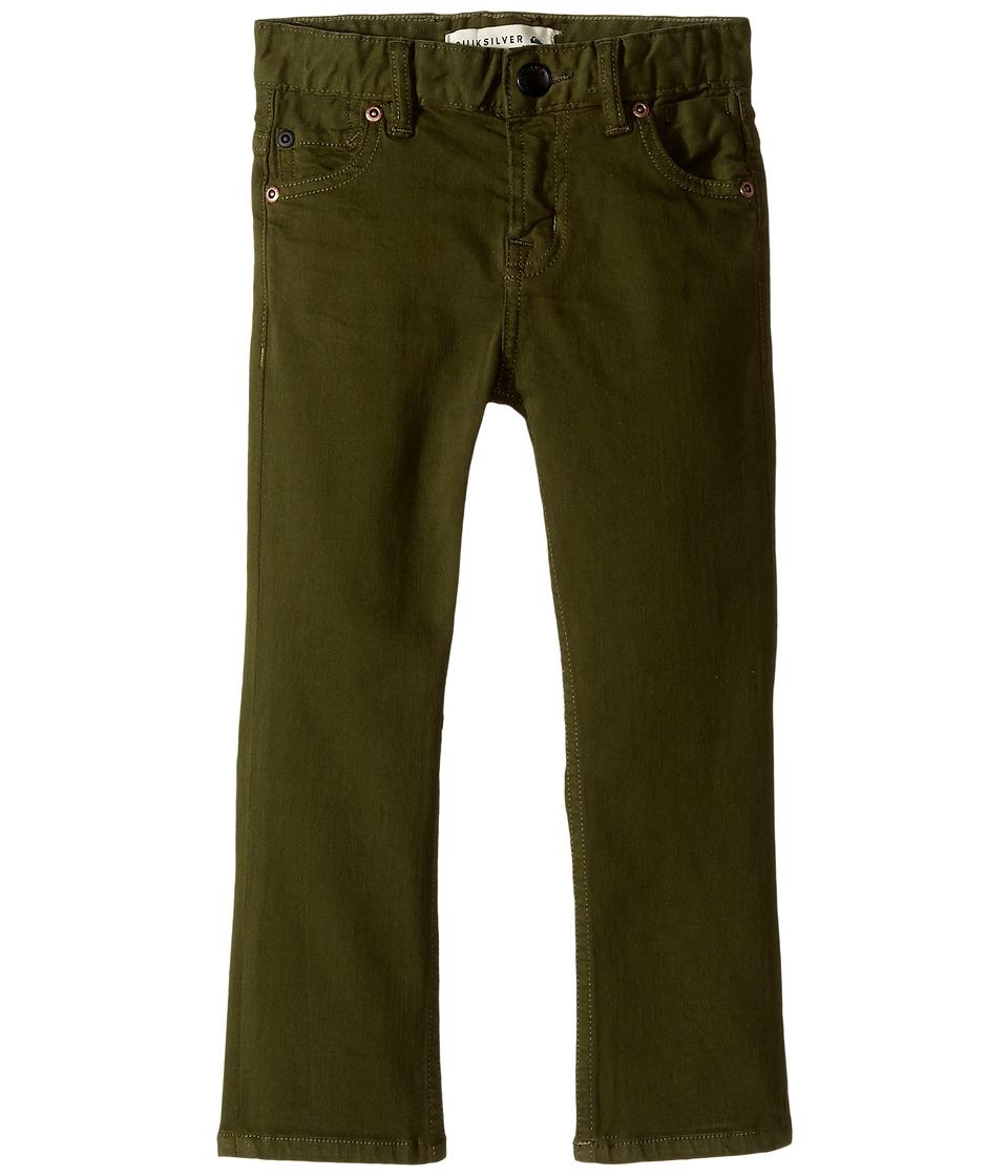 Quiksilver Kids - Distorsion Colors Jeans (Toddler/Little Kids) (Rifle Green) Boy's Jeans