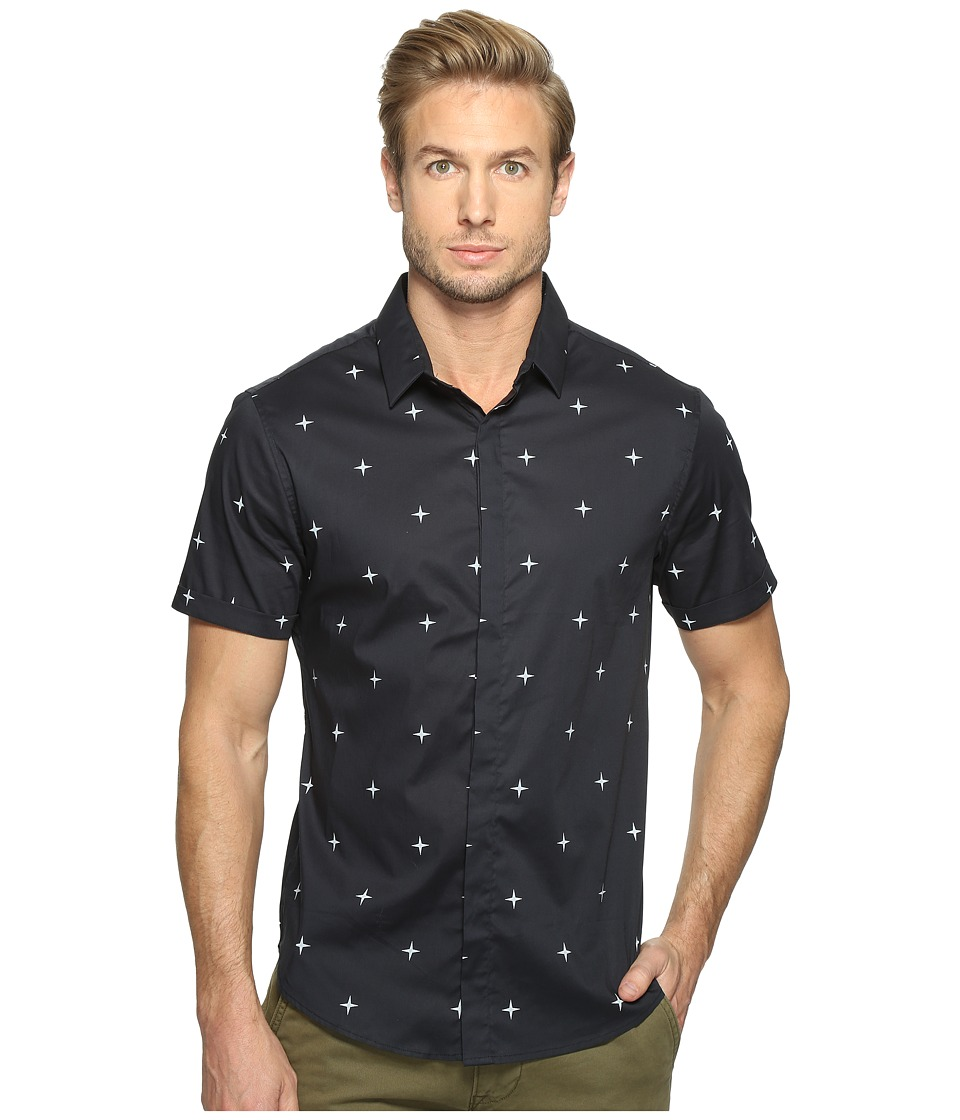 7 Diamonds Mind of Mine Short Sleeve Shirt (Navy) Men