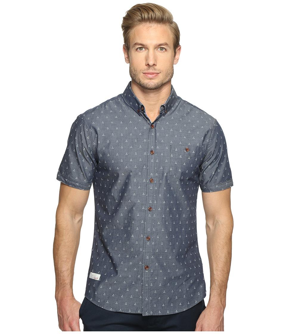 7 Diamonds Wavelength Short Sleeve Shirt (Light Blue) Men