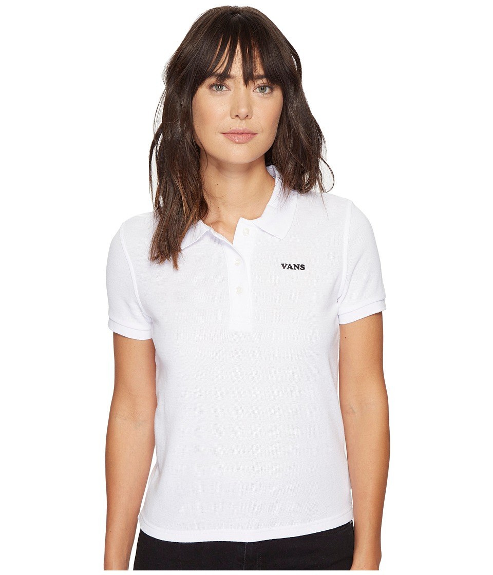 Vans - Penalty Polo (White) Women's Clothing