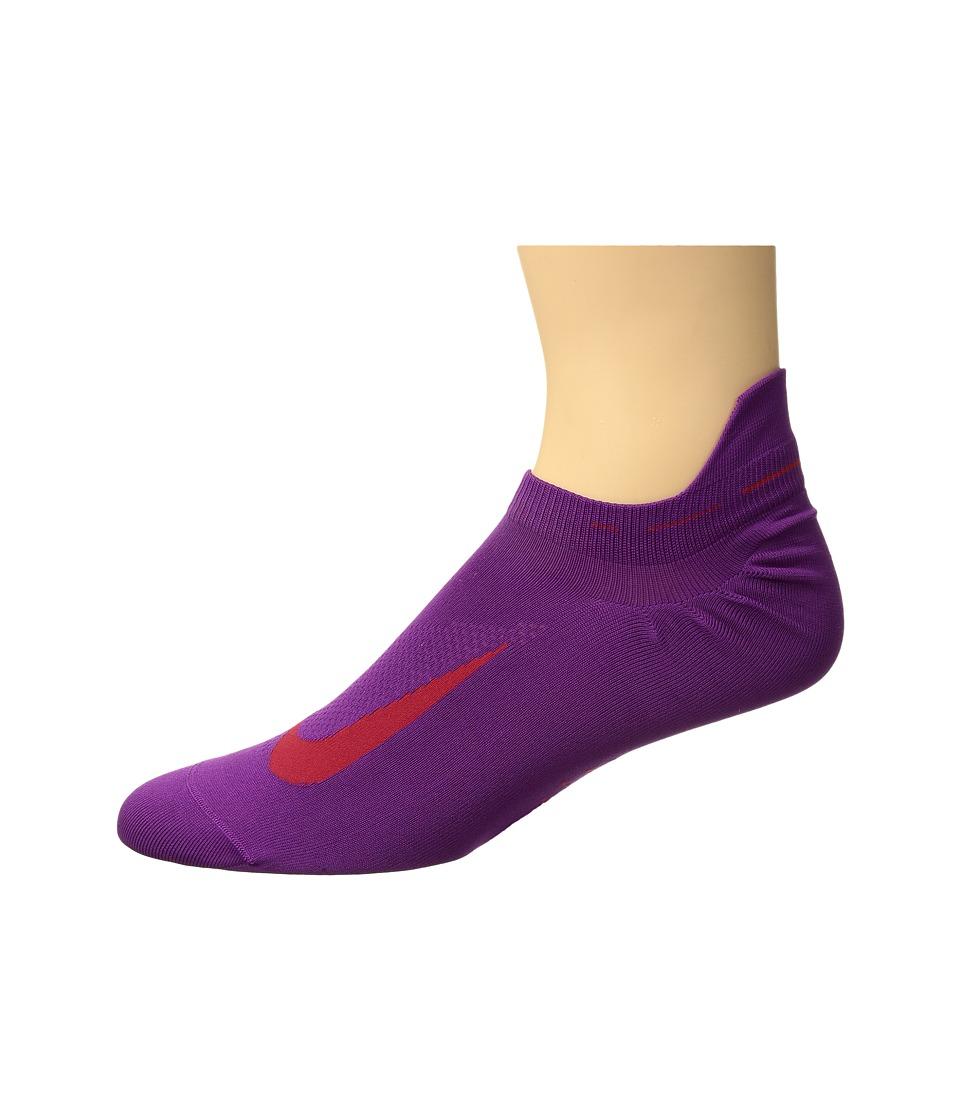 Nike Elite Running Lightweight No Show (Bold Berry/Siren Red) No Show Socks Shoes