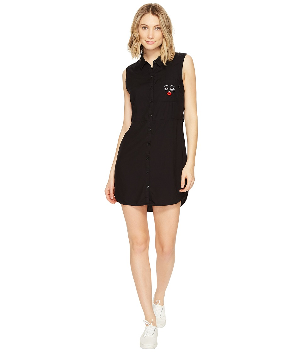 Vans - Kendra Dandy Camp Dress (Black) Women's Dress