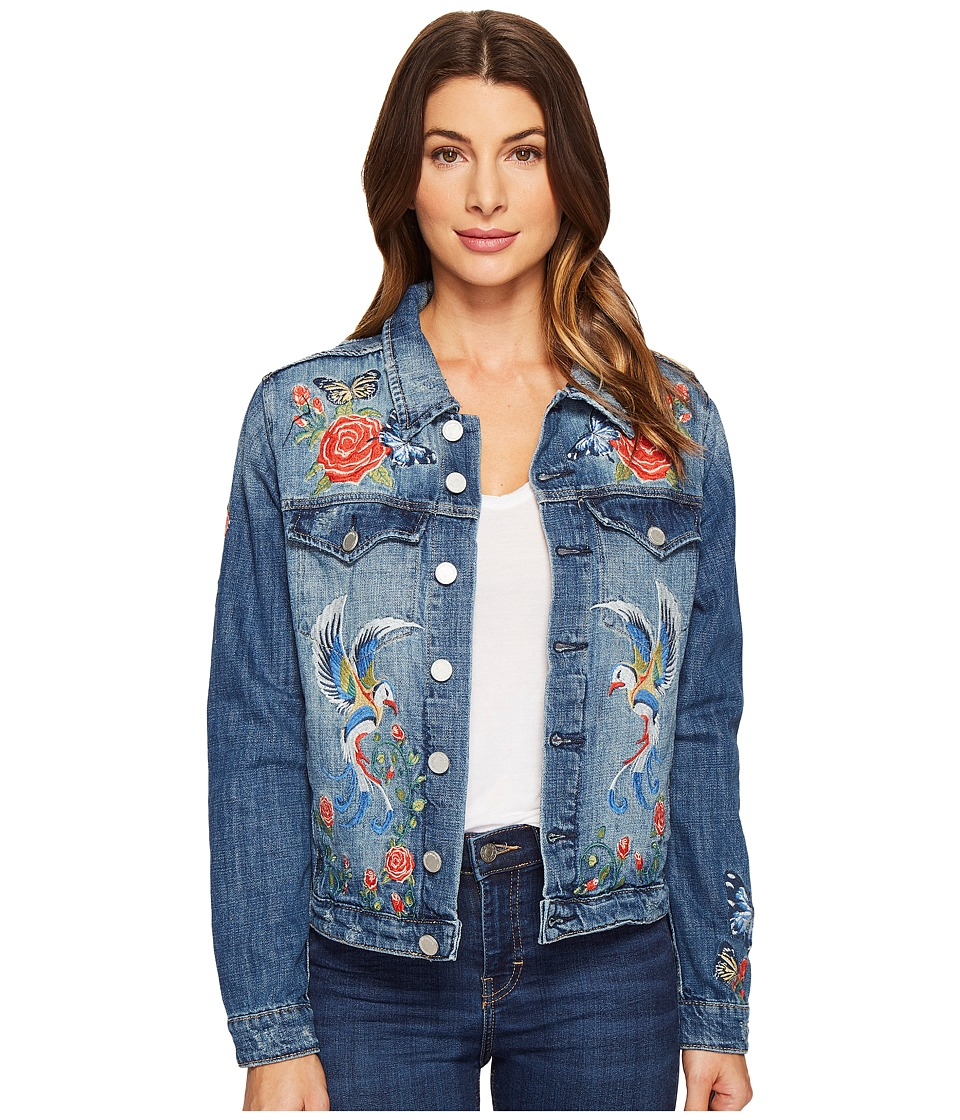 Blank NYC - Denim Embroidered Jacket in Wild Child (Wild Child) Women's Coat