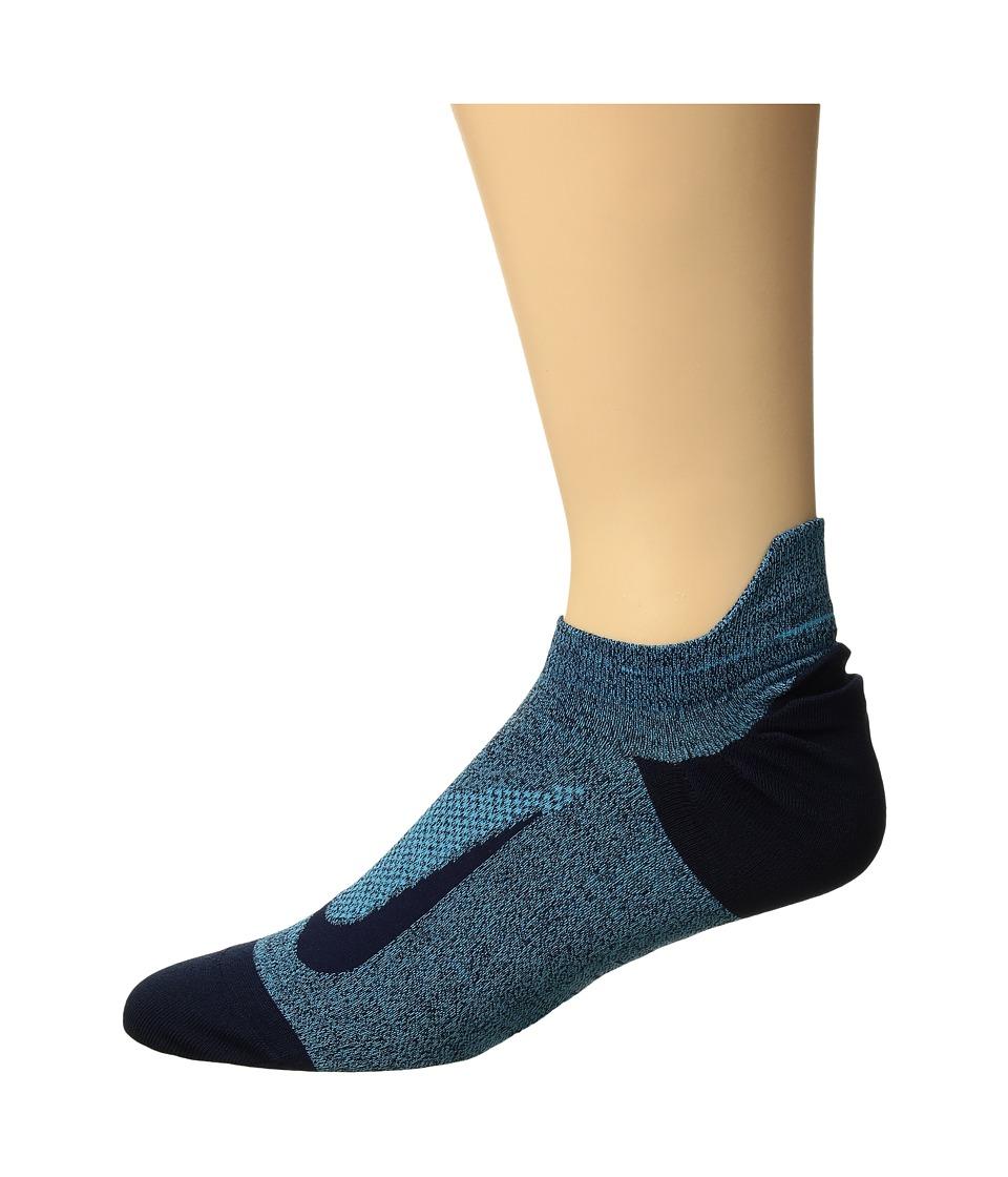 Nike Elite Merino Lightweight No Show Running Sock (Blue Fury/Obsidian) No Show Socks Shoes