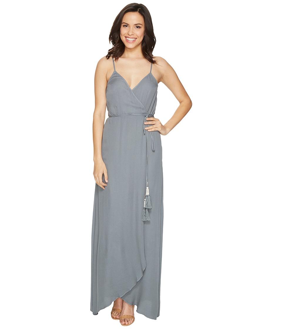 Young Fabulous & Broke Lorelai Wrap Dress (Sage Solid) Women