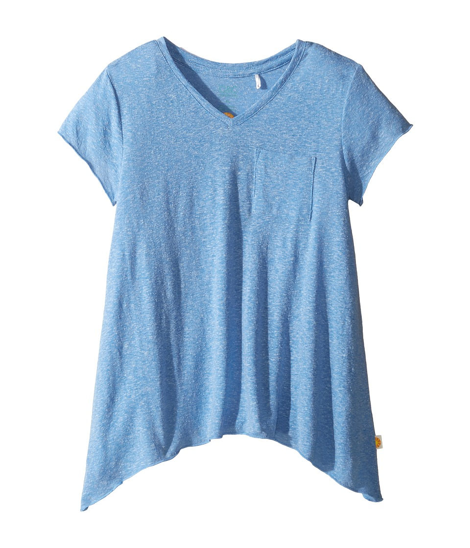 C&C California Kids - V-Neck Tee (Little Kids/Big Kids) (Sea Blue Heather) Girl's T Shirt