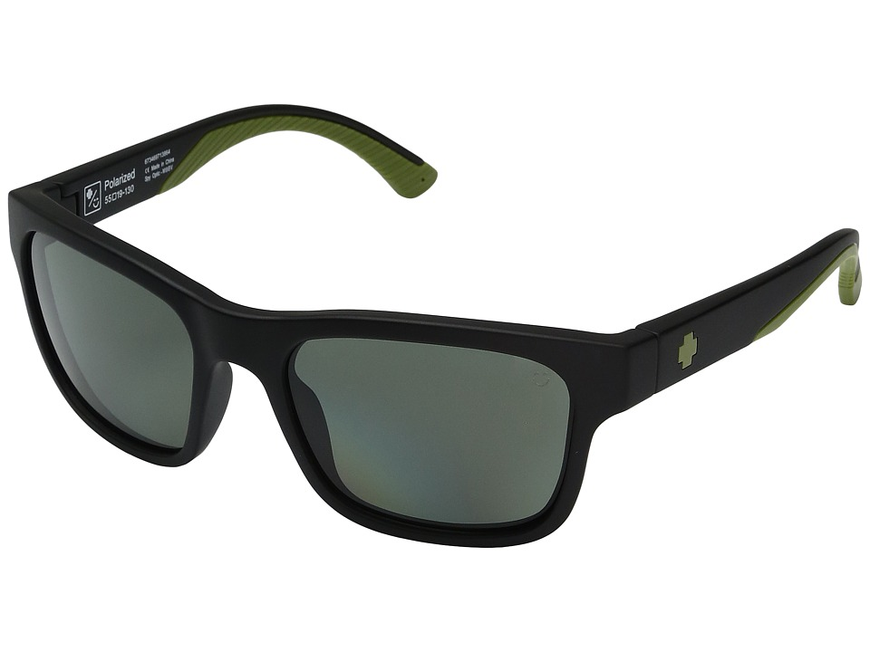 Spy Optic - Hunt (Matte Black Olive/Happy Gray/Green Polar) Athletic Performance Sport Sunglasses