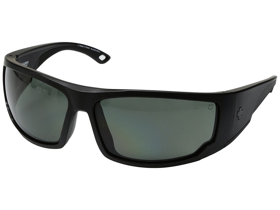 Spy Optic - Tackle (Matte Black/Happy Gray/Green Polar) Athletic Performance Sport Sunglasses