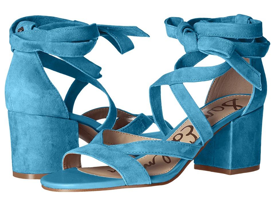 Sam Edelman - Sheri (Pacific Blue Kid Suede Leather) Women's 1-2 inch heel Shoes