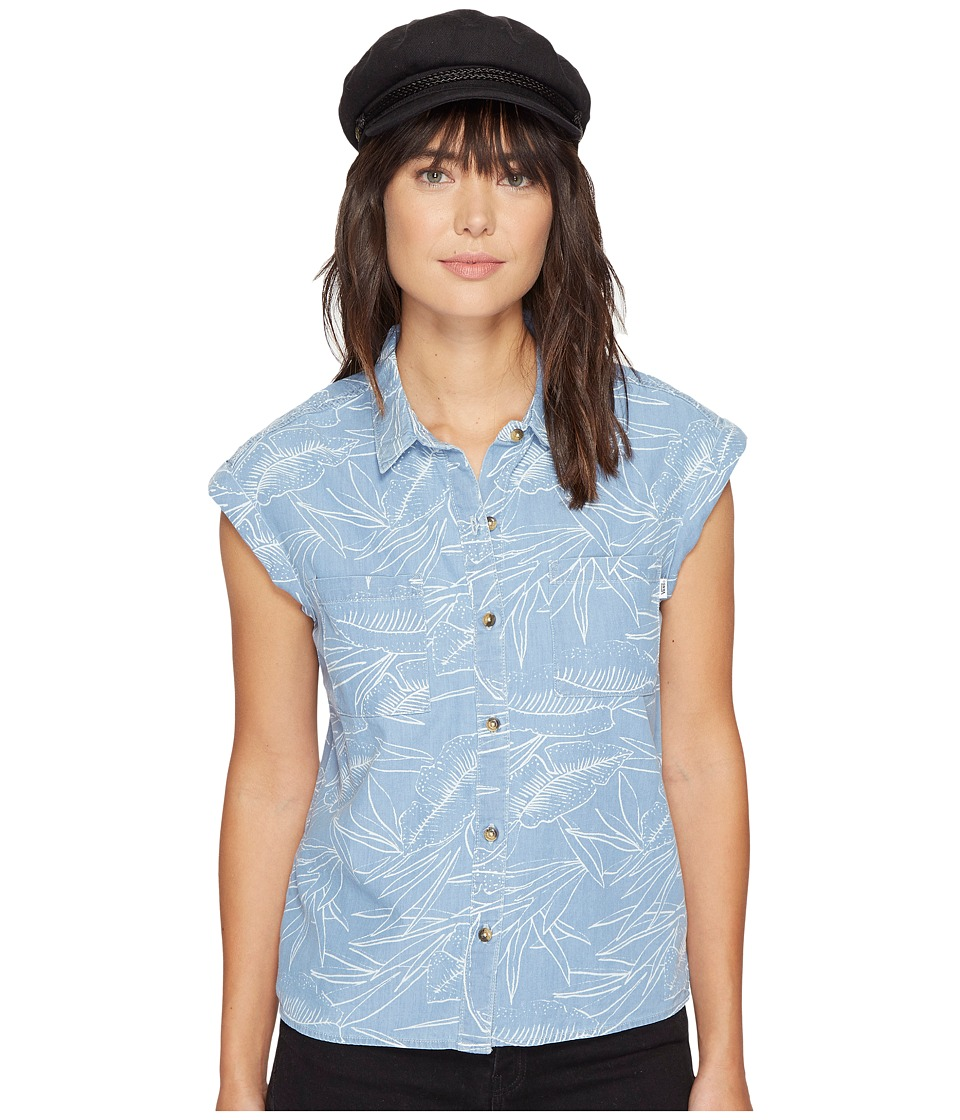 Vans - Sundazed Denim Top (Tropical Bleach) Women's Clothing