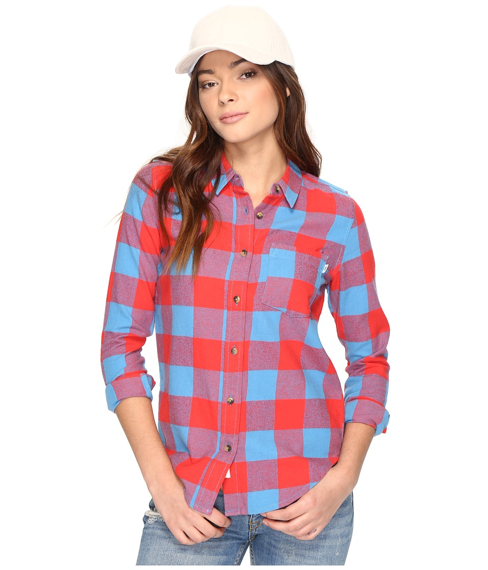 Vans - Moody Blues II Flannel (Tomato) Women's Clothing