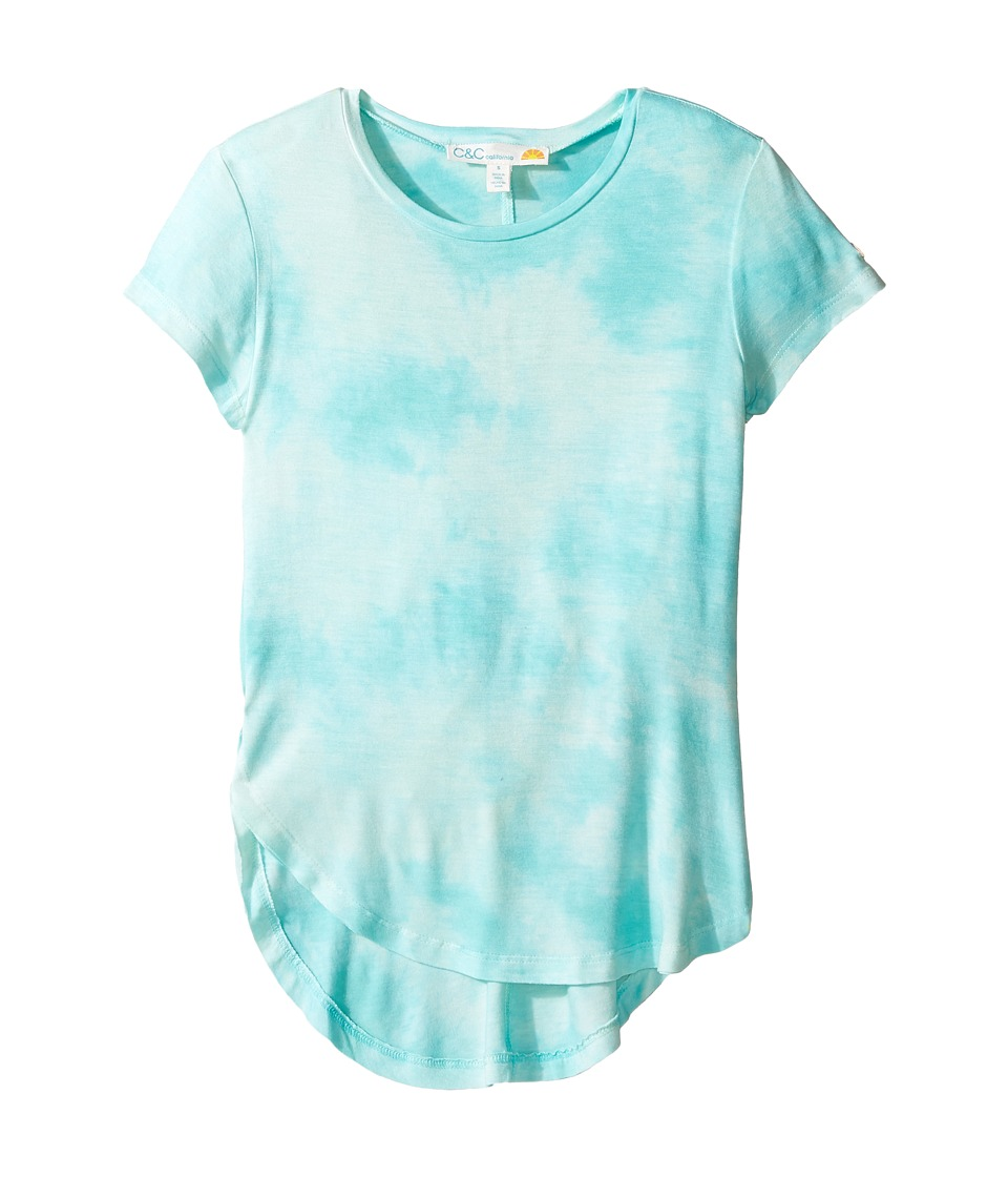 C&C California Kids - Dip-Dye Top (Little Kids/Big Kids) (Aqua Run) Girl's Clothing