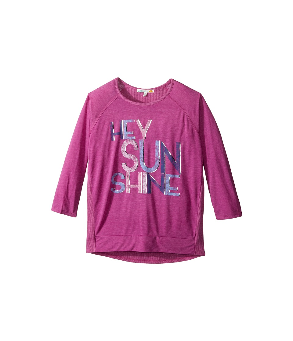 C&C California Kids - Graphic Long Sleeve Top (Little Kids/Big Kids) (Rasberry) Girl's Clothing