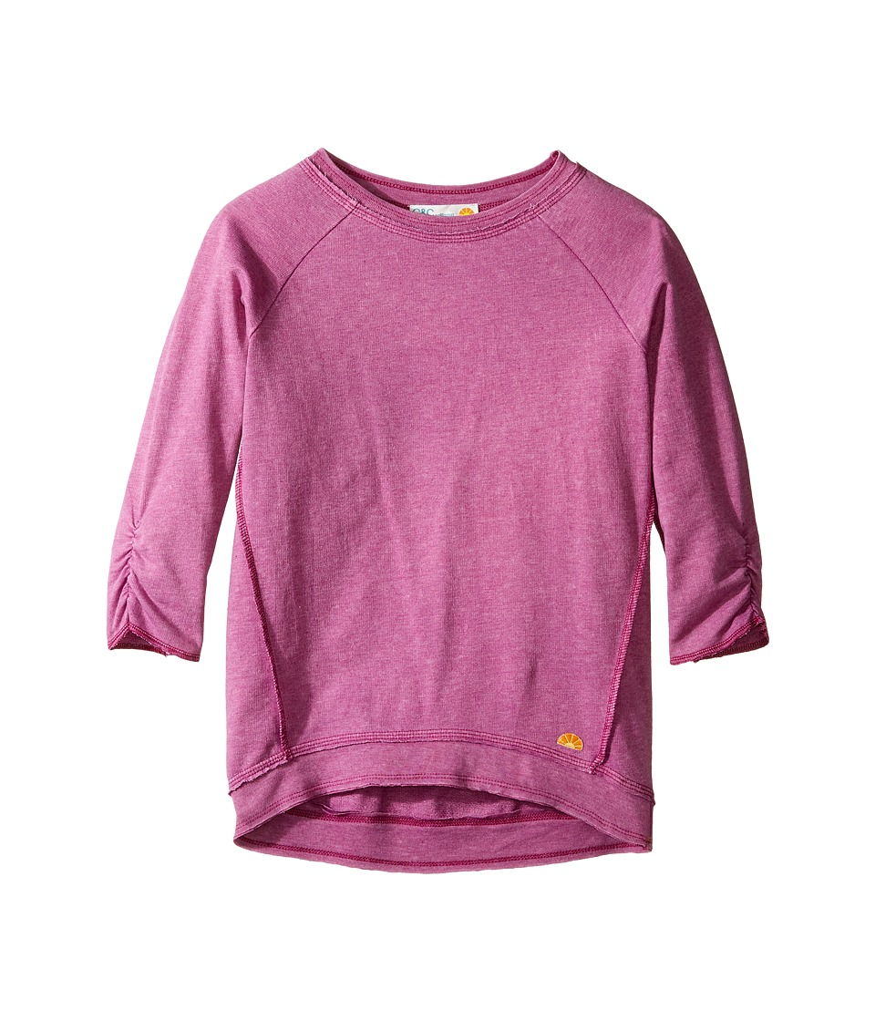 C&C California Kids - French Terry Top (Little Kids/Big Kids) (Rasberry) Girl's Clothing