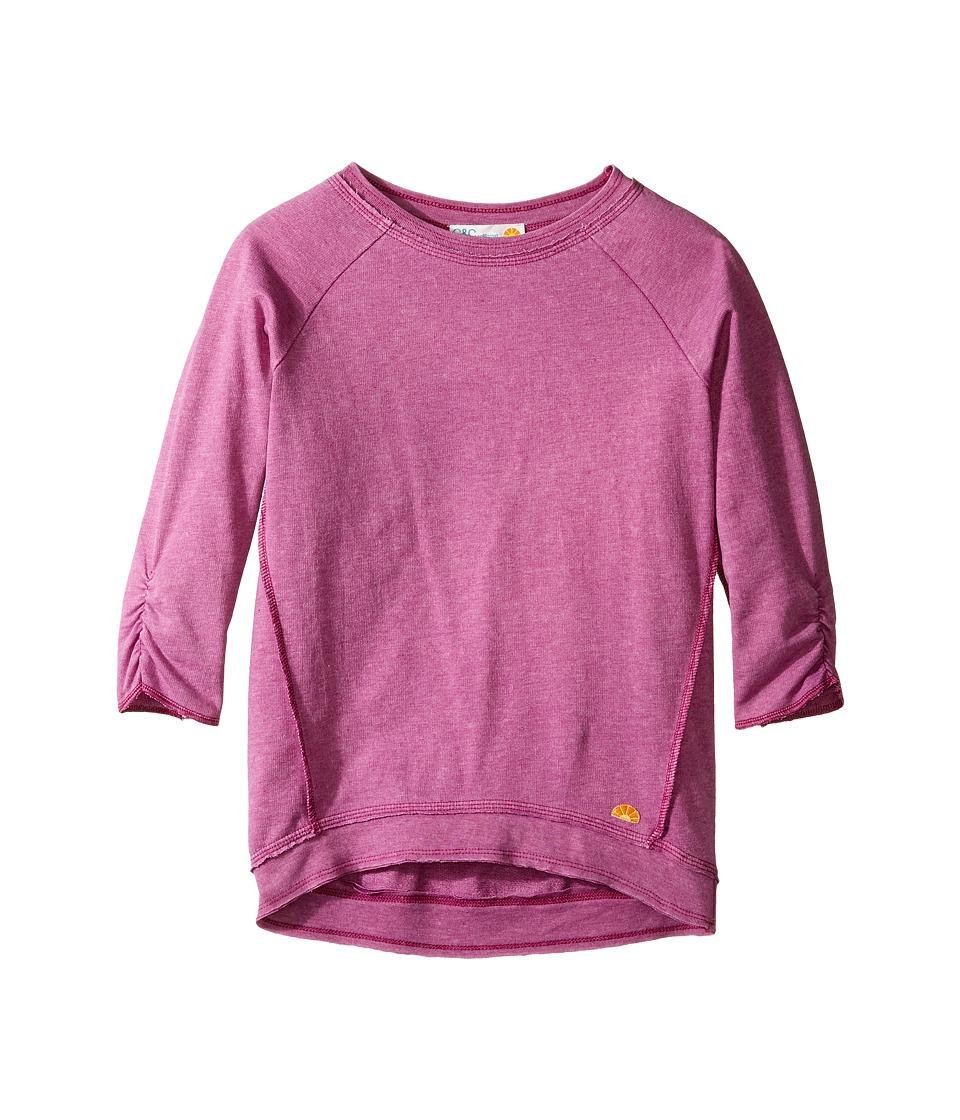 C&C California Kids - French Terry Top (Little Kids/Big Kids) (Rasberry) Girl's Clothing