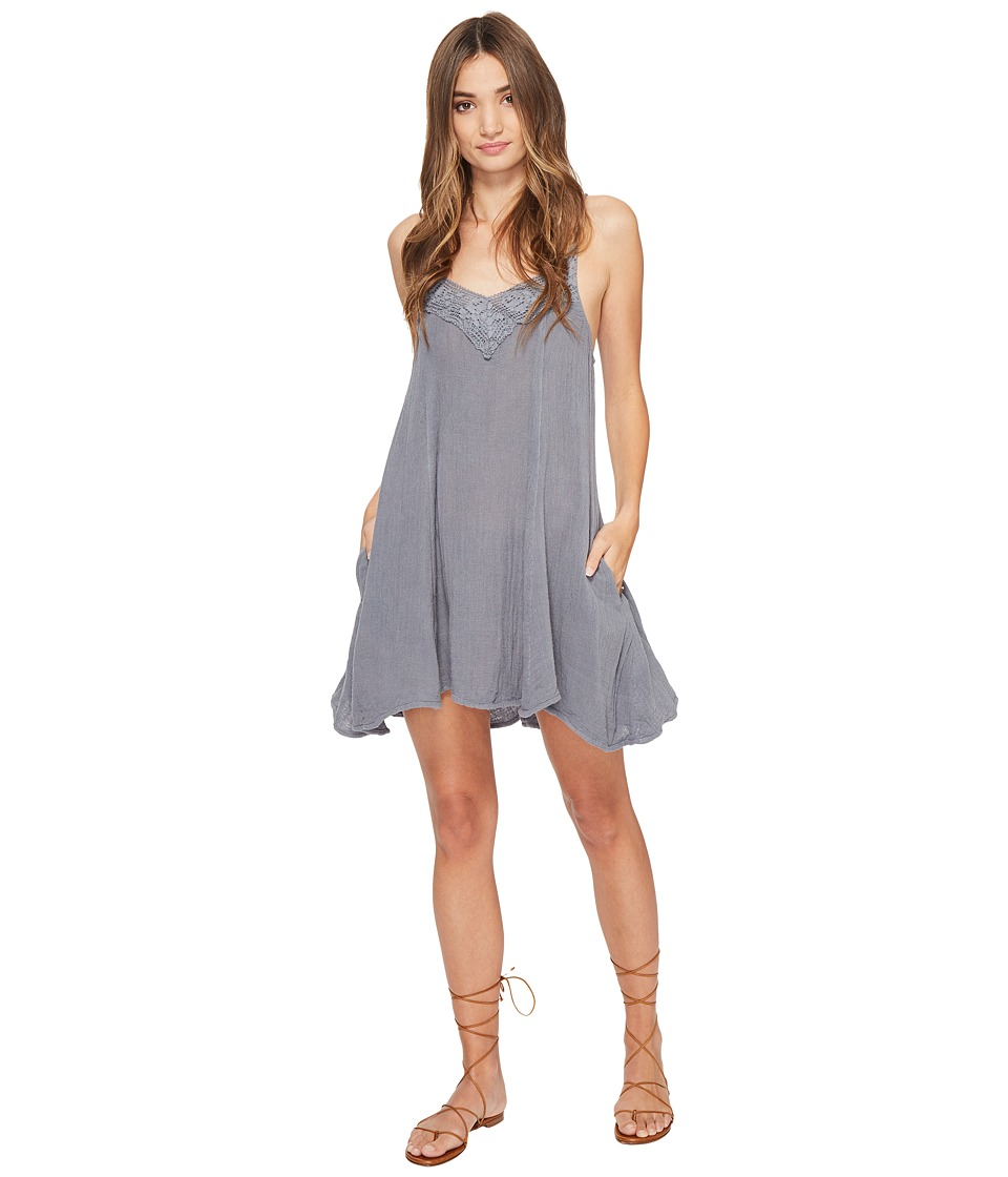 Jen's Pirate Booty - Trade Winds Mini Dress (Storm/Bleach Dip-Dye Tassels) Women's Dress