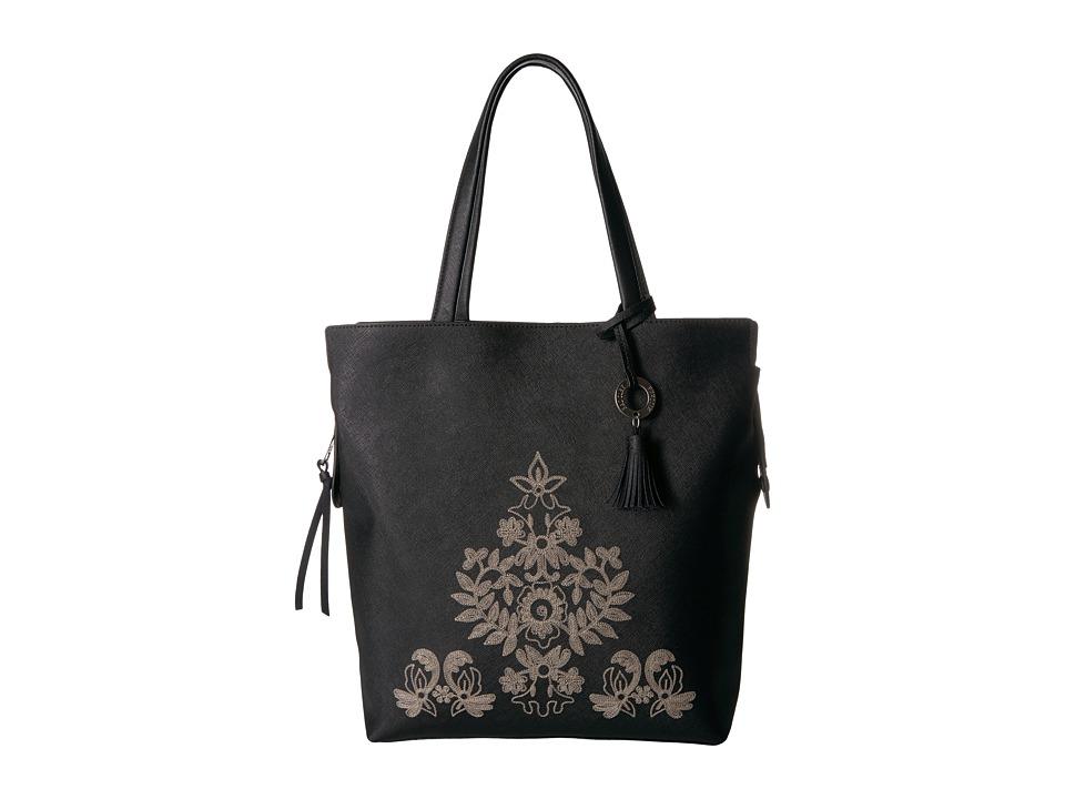 Badgley Mischka - Cage Tote (Black) Tote Handbags
