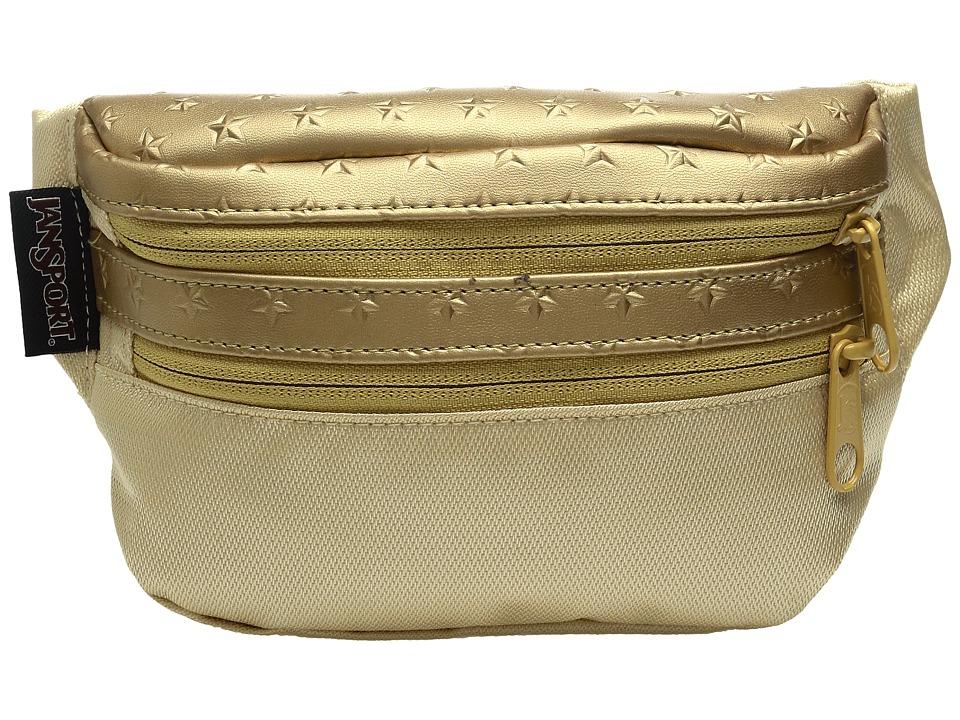 JanSport - Hippyland (Gold 3D Stars) Backpack Bags