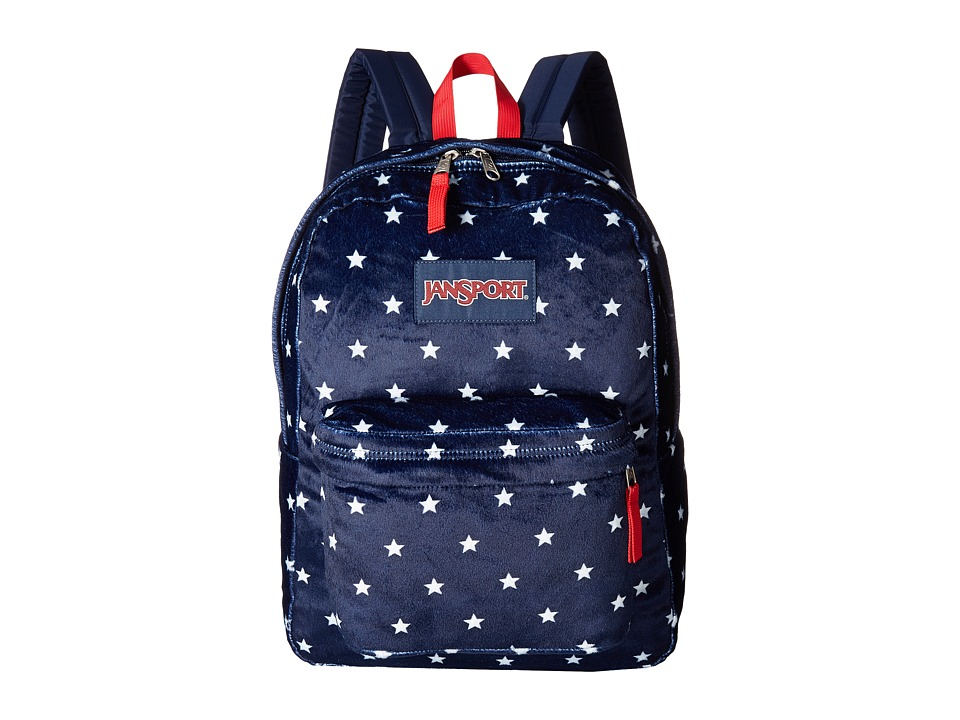 JanSport - High Stakes (Navy Moonshine Star Spangled Plush) Backpack Bags