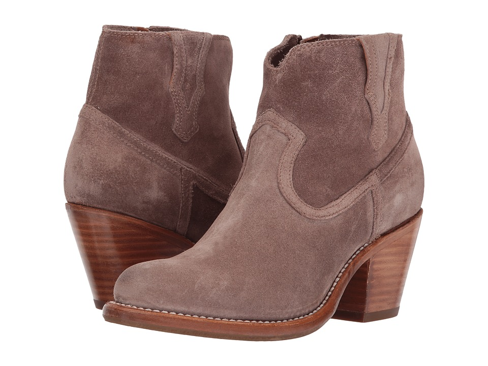 Frye Lillian Western Bootie Dusty Rose Soft Oiled Suede Womens Boots