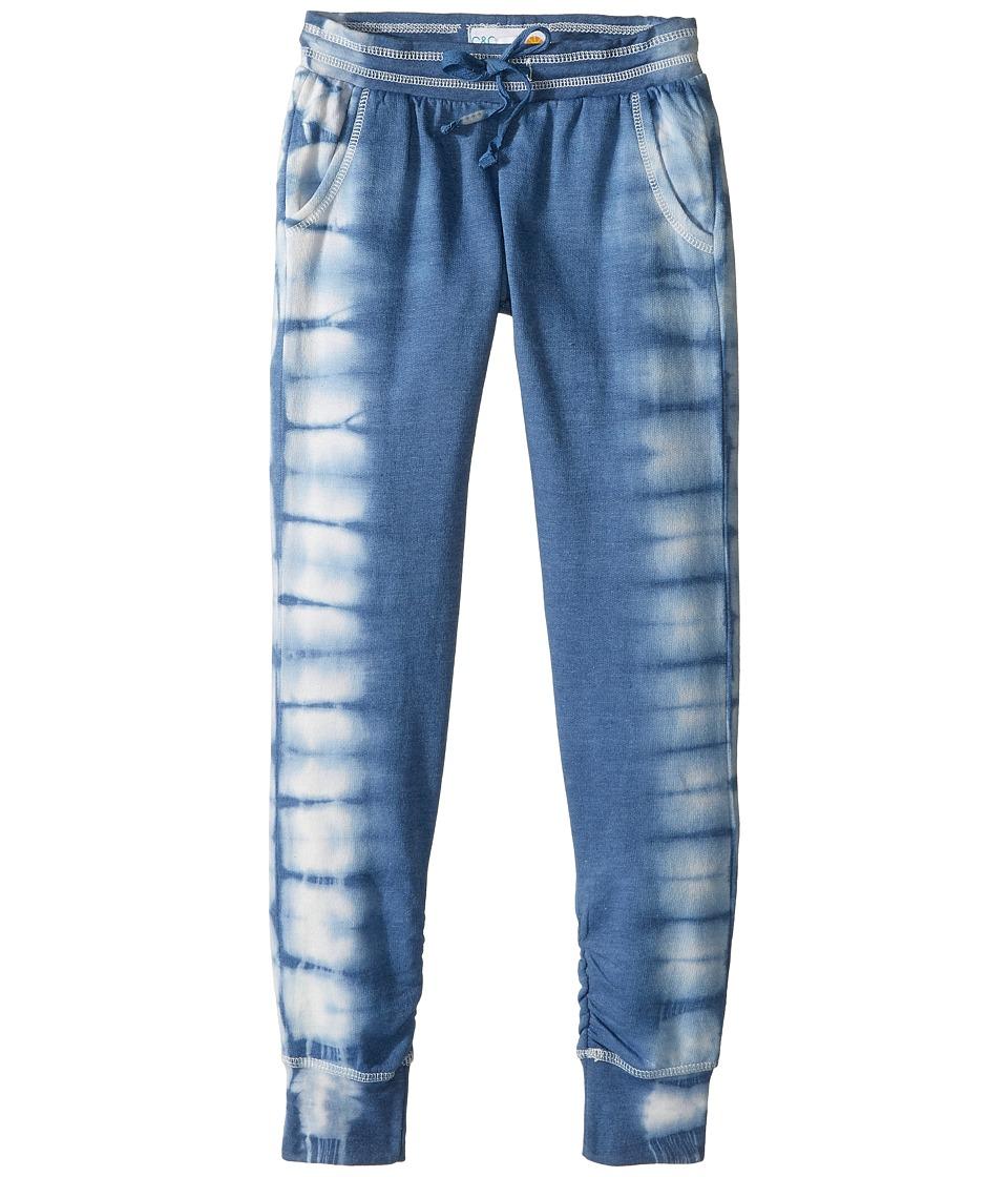 C&C California Kids - Tie-Dye Fleece Bottom (Little Kids/Big Kids) (Navy) Girl's Clothing