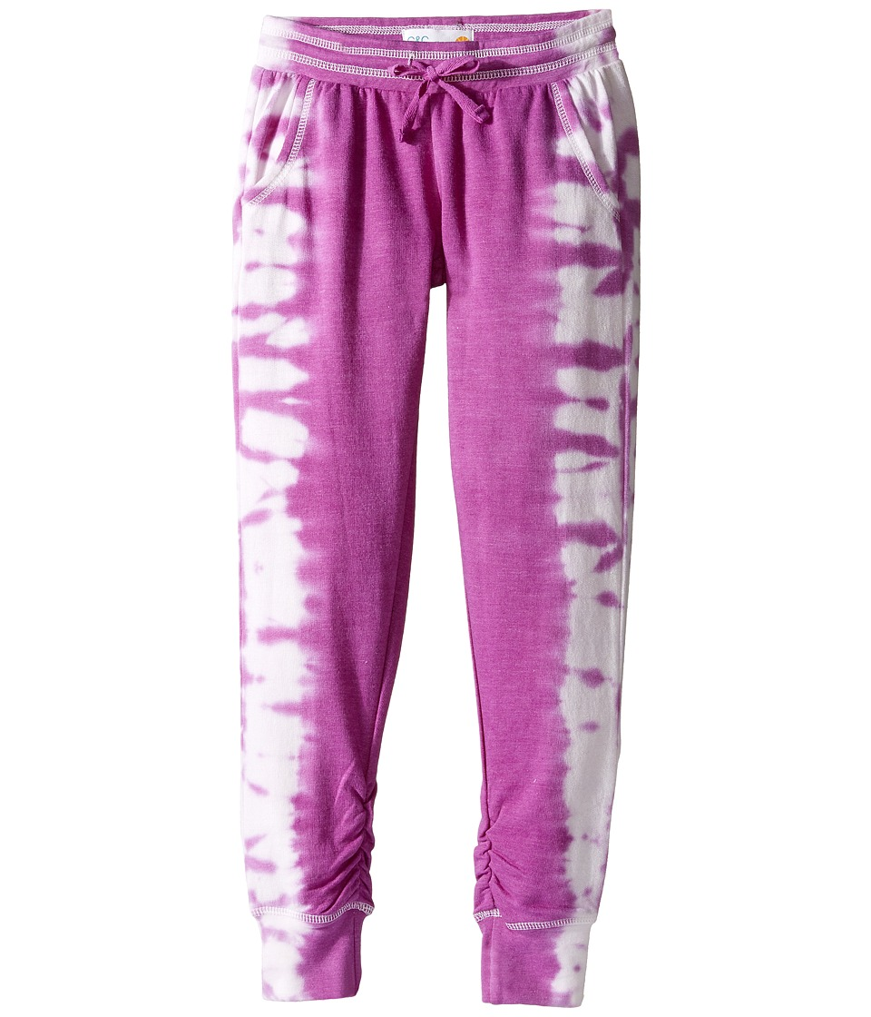 C&C California Kids - Tie-Dye Fleece Bottom (Little Kids/Big Kids) (Rasberry) Girl's Clothing