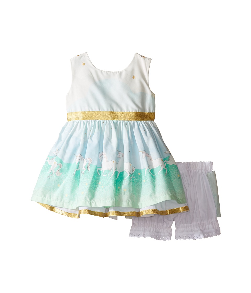 fiveloaves twofish - Unicorn Magic Party Dress (Infant) (White) Girl's Dress