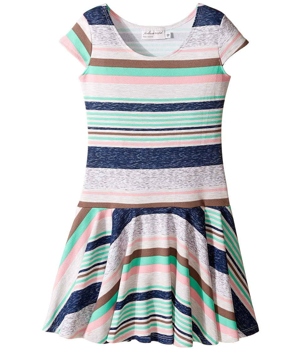 fiveloaves twofish Savannah Dress (Little Kids/Big Kids) (Multi Stripe) Girl's Dress