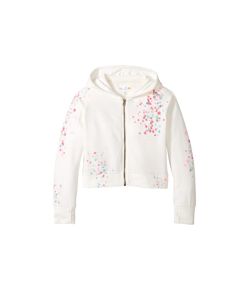 C&C California Kids - Cropped Full Zip Hoodie (Little Kids/Big Kids) (Snow White) Girl's Sweatshirt