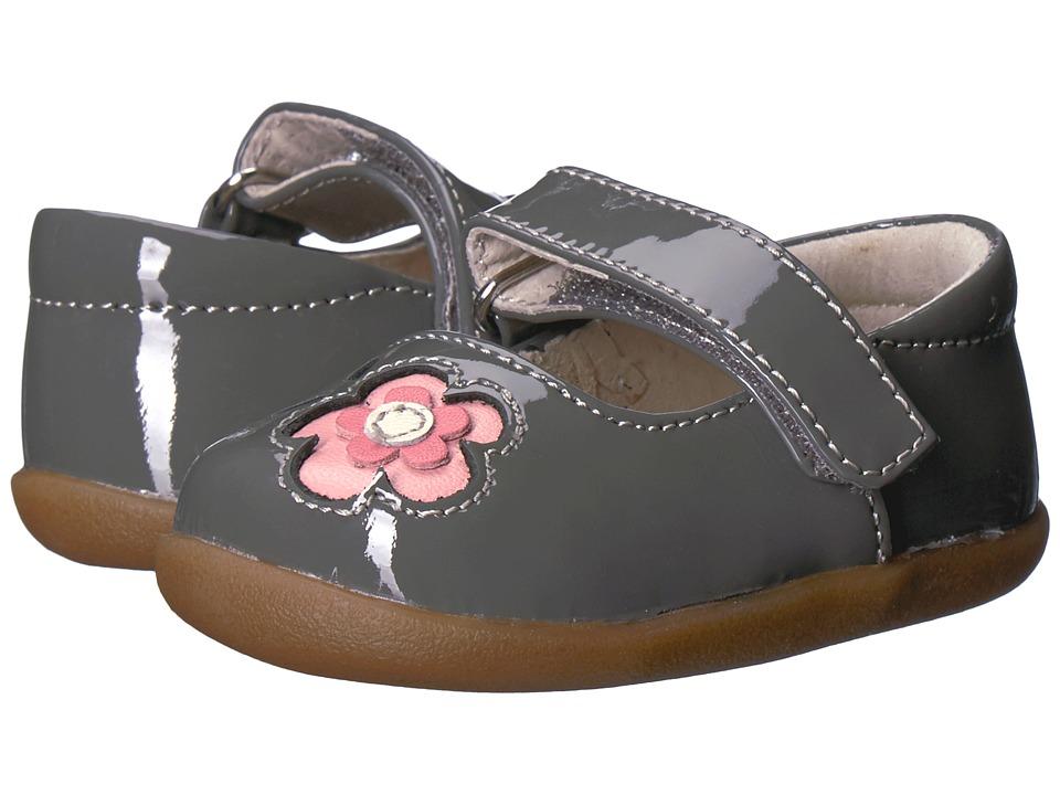 See Kai Run Kids Stella INF (Infant/Toddler) (Gray Patent) Girl