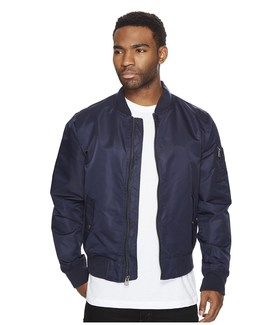 Levi's(r) - Ma-1 Unfilled Flight Jacket Double Entry Lower Flap Pockets (Navy) Men's Coat