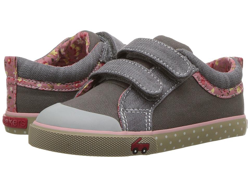 See Kai Run Kids Robyne (Toddler) (Gray Canvas) Girls Shoes