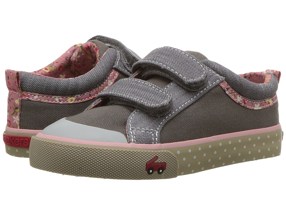 See Kai Run Kids Robyne (Toddler/Little Kid) (Gray Canvas) Girl