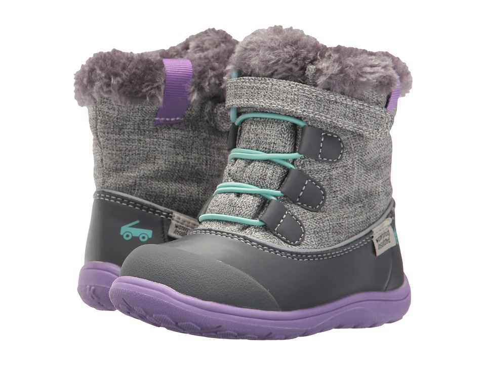 See Kai Run Kids Abby WP/IN (Toddler/Little Kid) (Gray) Girl
