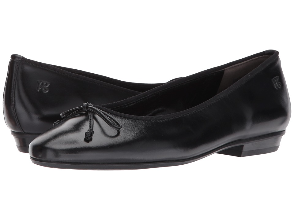 Paul Green - Emile Ballet (Black Leather) Women's Flat Shoes