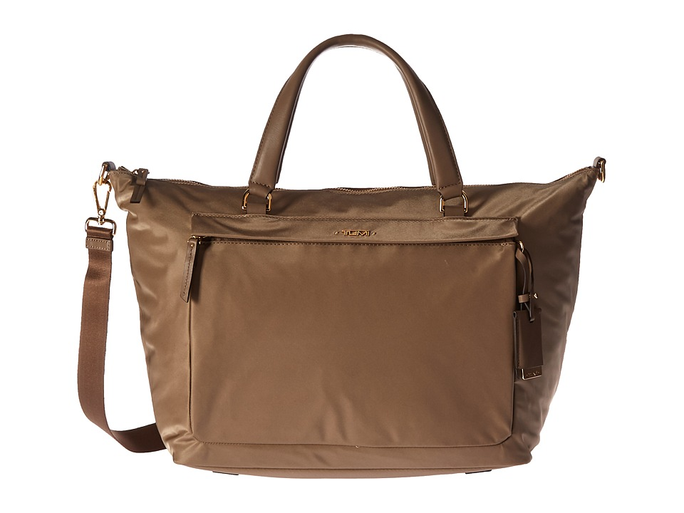 Tumi - Voyageur Ruth Soft Satchel (Khaki) Satchel Handbags