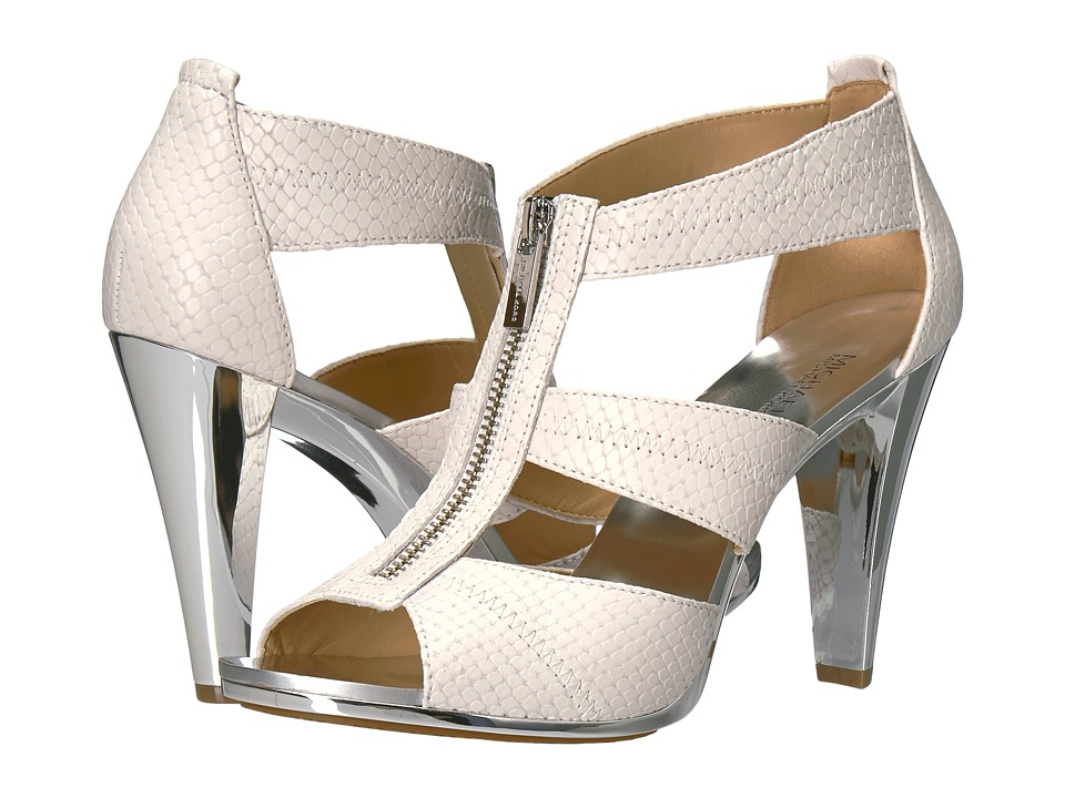 MICHAEL Michael Kors - Berkley T-Strap (Optic White) High Heels