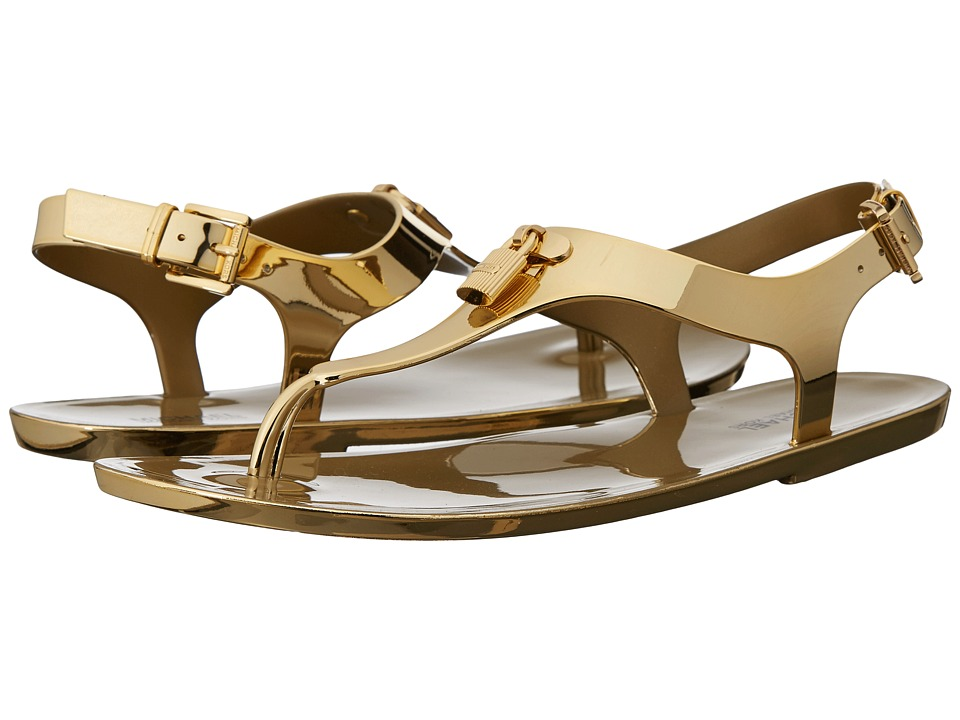 MICHAEL Michael Kors - Mira Jelly Thong (Gold) Women's Sandals