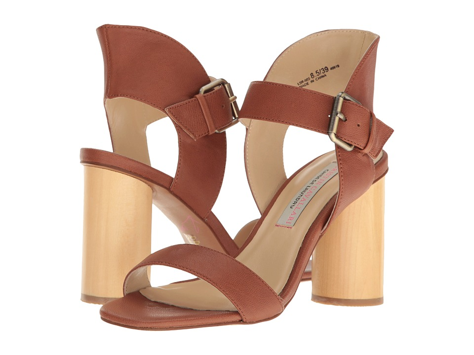 Kristin Cavallari - Locator Leather Heeled Sandal (Whiskey) Women's Shoes