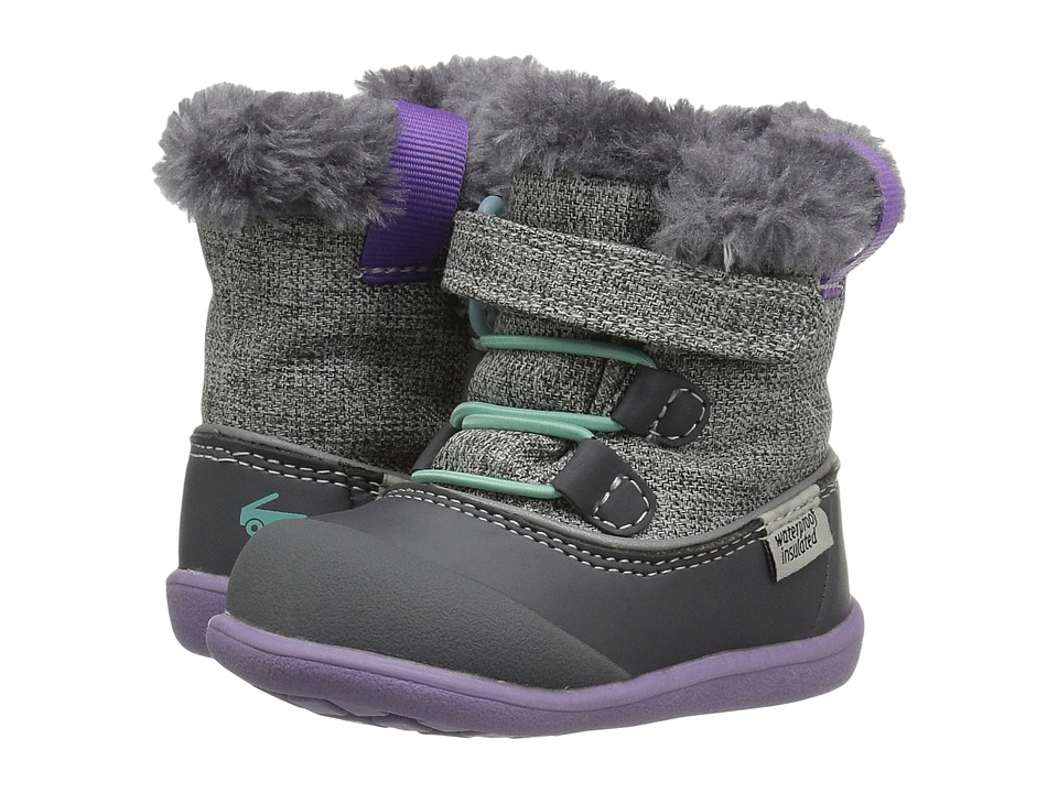 See Kai Run Kids Abby WP/IN (Toddler) (Gray) Girl