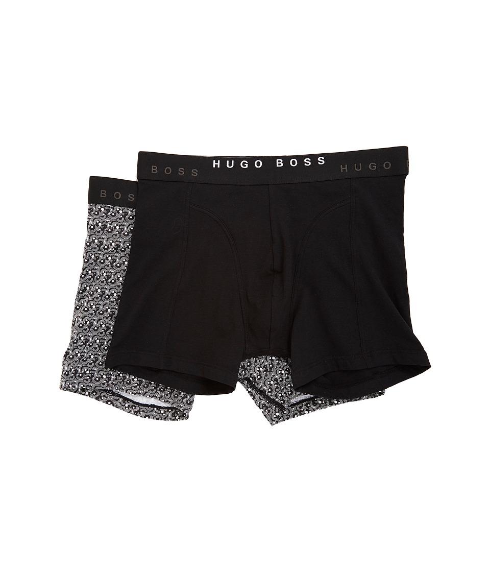 BOSS Hugo Boss - Boxer Brief 2-Pack Print (Black/Print) Men's Underwear