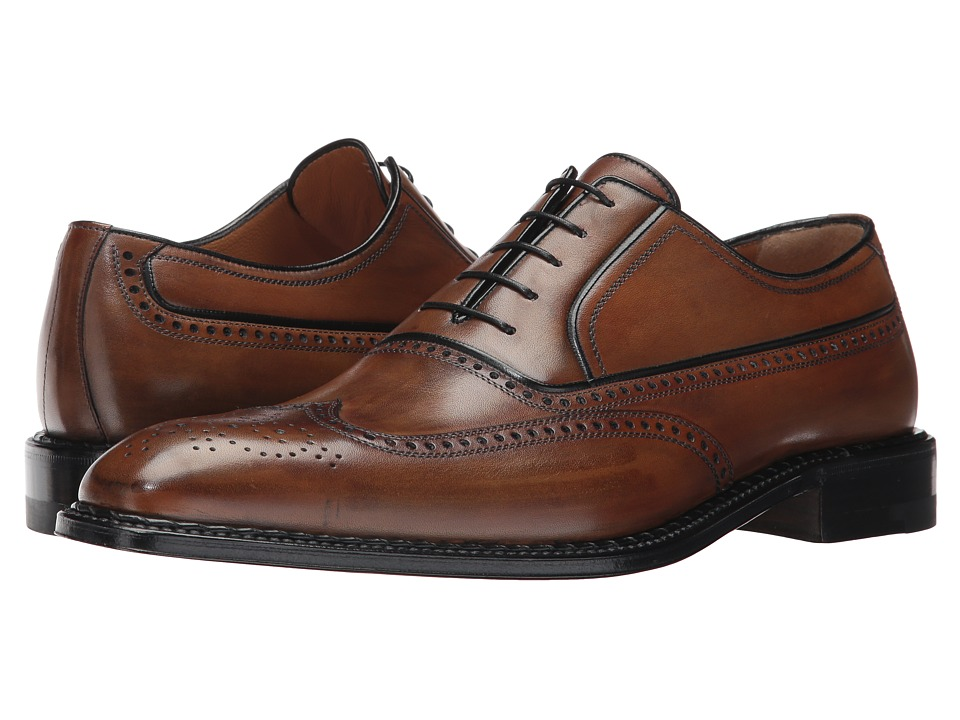 a. testoni - Wingip Oxford (Mahogany) Men's Shoes