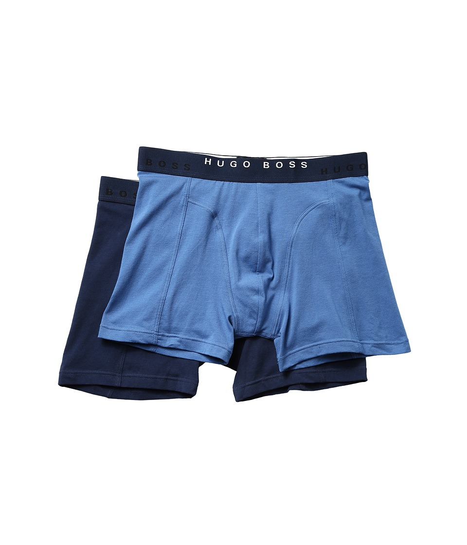 BOSS Hugo Boss - Boxer Brief 2-Pack Solid (Blue/Navy) Men's Underwear
