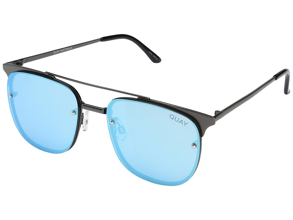 QUAY AUSTRALIA - Private Eyes (Gunmetal/Blue) Fashion Sunglasses