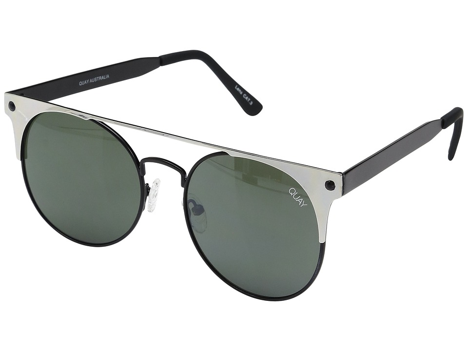 QUAY AUSTRALIA - The in Crowd (Black Silver/Smoke) Fashion Sunglasses