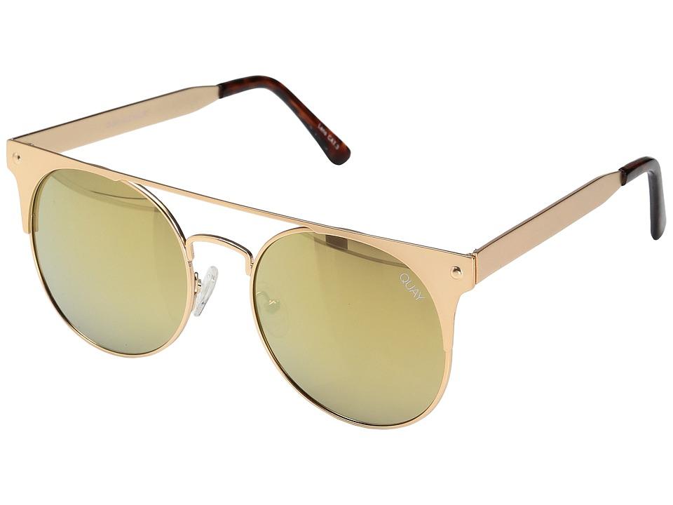 QUAY AUSTRALIA - The in Crowd (Gold/Gold) Fashion Sunglasses